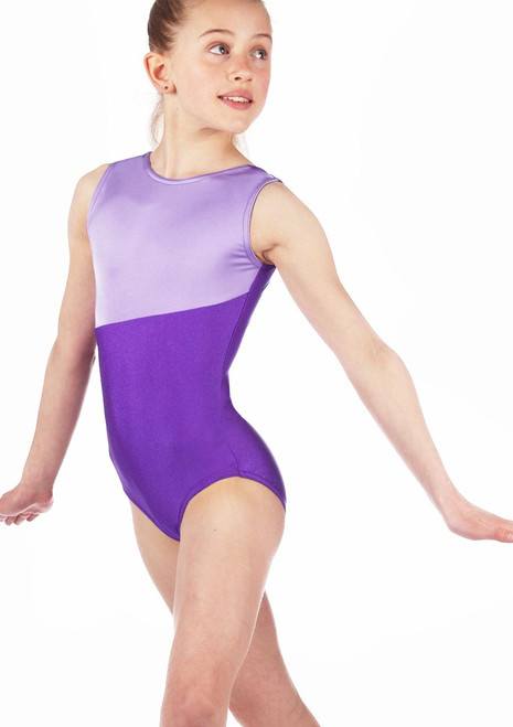 Alegra Girls Ginnie Sleeveless Gymnastics Leotard Purple. [Purple]