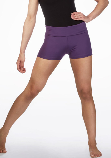 Move Abela Rolltop Dance Shorts Purple main image. [Purple]
