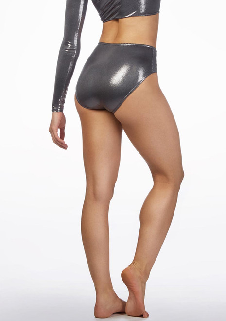 Alegra Metallic Dance Briefs Grey back. [Grey]