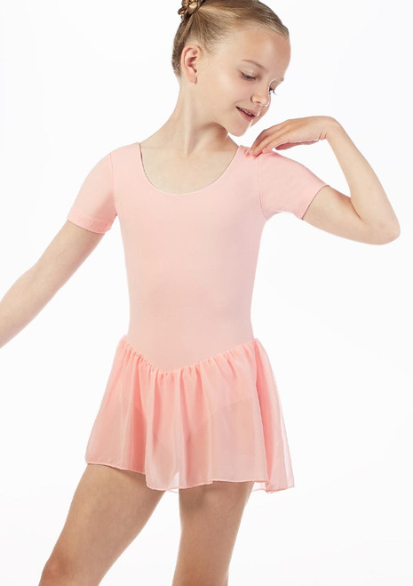Move Lottie Skirted Leotard NEW Pink front. [Pink]