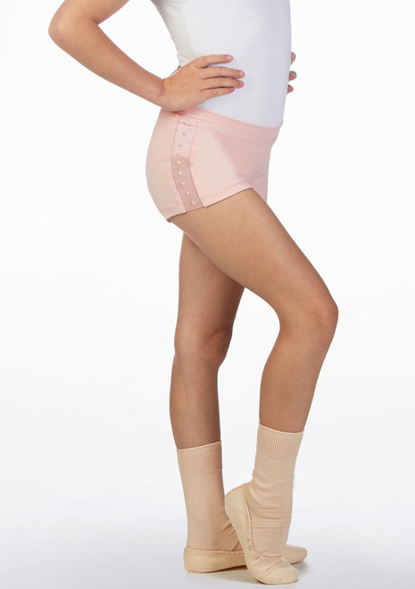 Bloch Philippa Panel Short* Pink front. [Pink]
