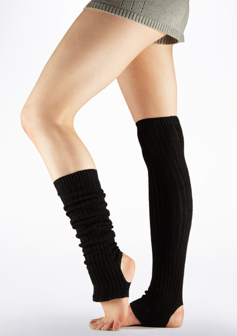Intermezzo Presur Cotton Stretch Legwarmers 40cm Black main image. [Black]