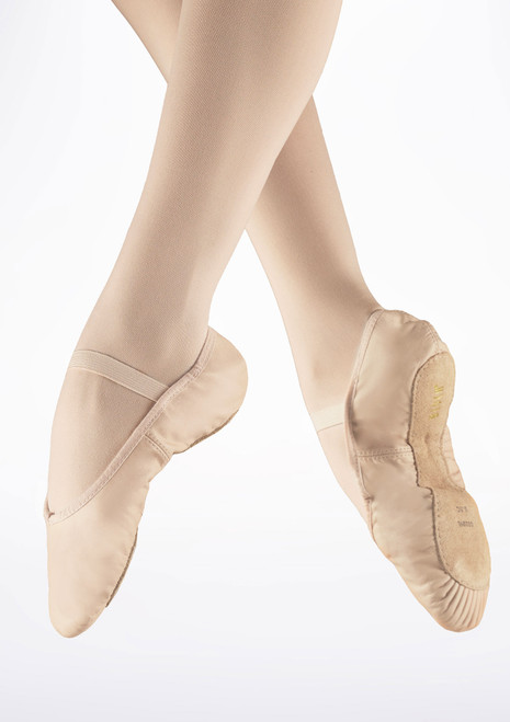 Bloch Arise S0209 Full Sole Leather Ballet Shoe Theatrical Pink main image. [Pink]