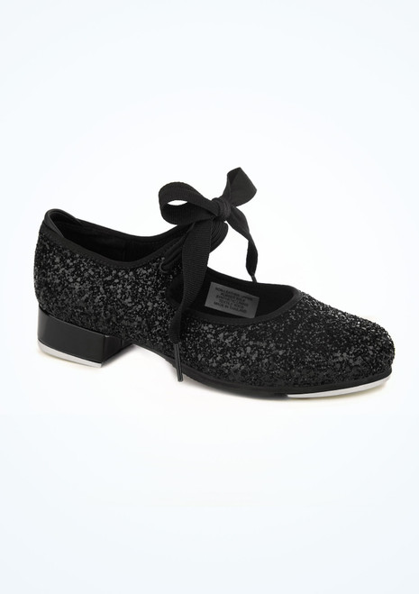 Bloch Glitter Low Heel Tap Shoe Black main image. [Black]