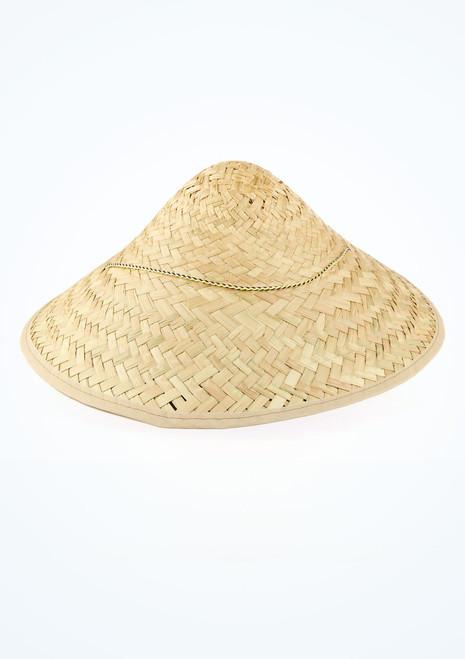 Straw Mandarin Hat Brown main image. [Brown]