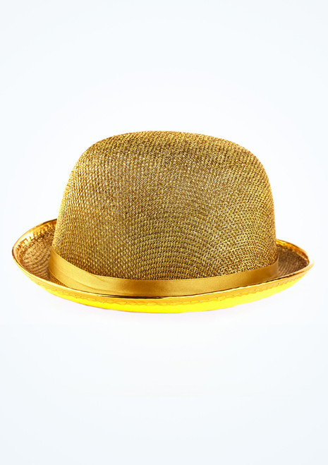 Lurex Bowler Hat Gold main image. [Gold]