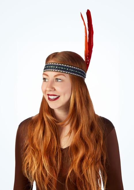 Feather Tie Headband Multi-Colour main image. [Multi-Colour]