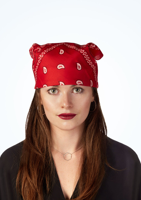 Cowboy Bandana Red front. [Red]