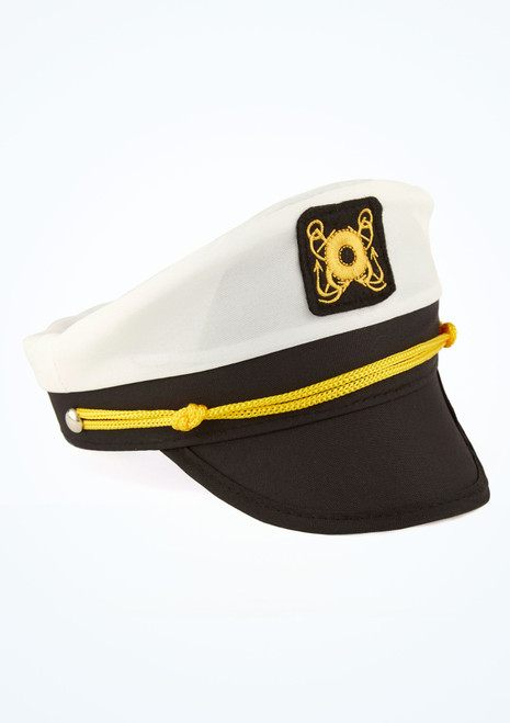 Sailor Captain Cap White main image. [White]