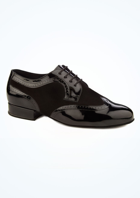 Diamant Mens Suede and Patent Ballroom Shoe Black main image. [Black]