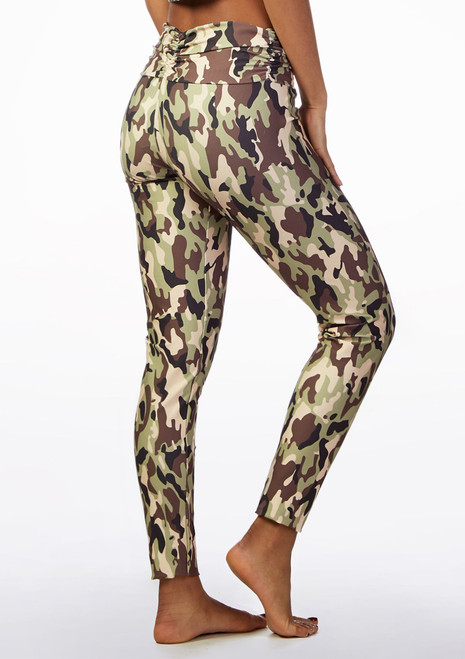 So Danca Camouflage Dance Leggings Patterned front. [Patterned]