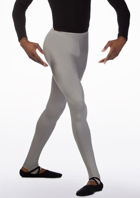 Ballet Rosa Mens Stirrup Tights Grey front. [Grey]