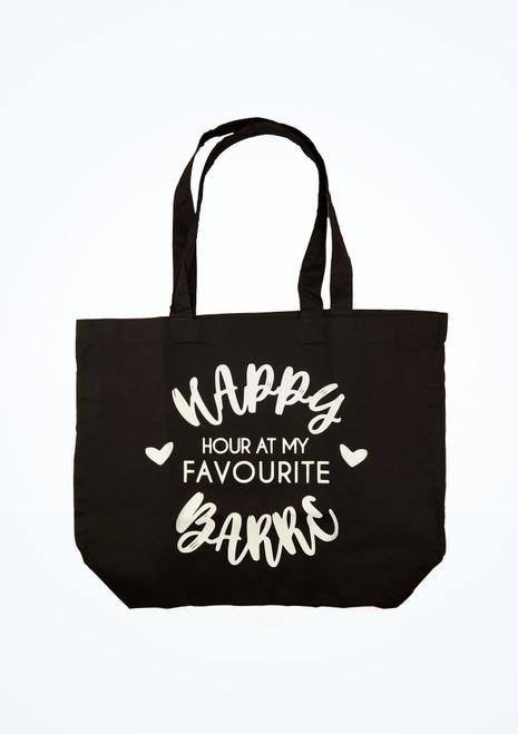 Kelham Happy Dance Tote Bag Black front. [Black]