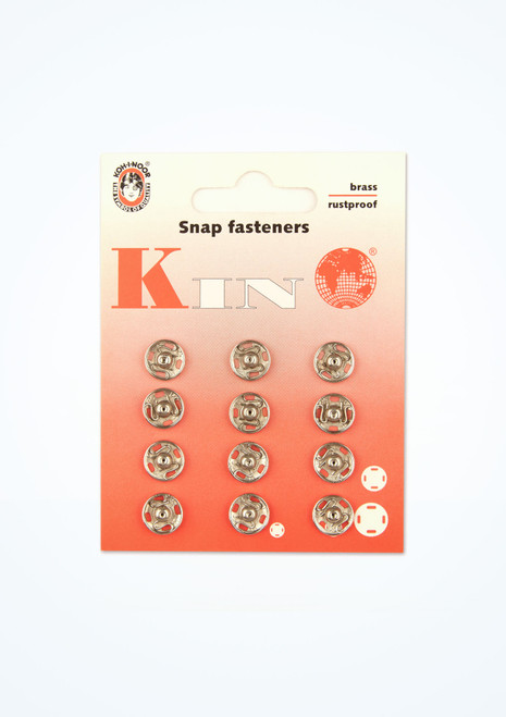 Sew On Snap Fasteners 12 Pack Silver main image. [Silver]