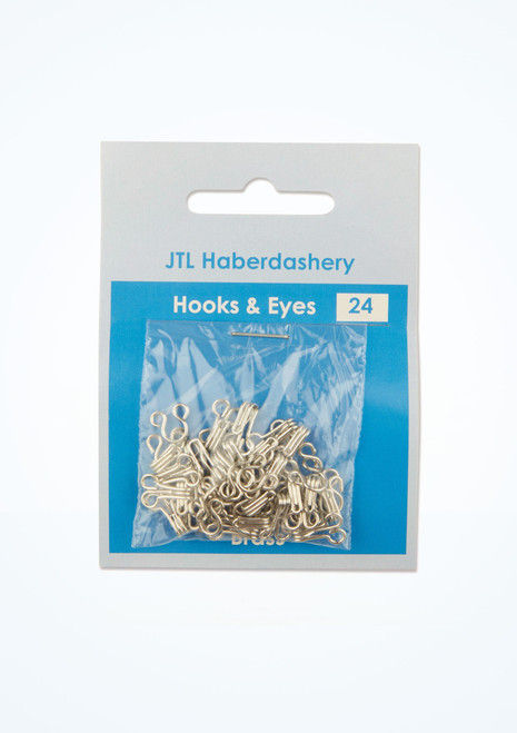 Silver Hook and Eyes 24 Pack main image. [Silver]