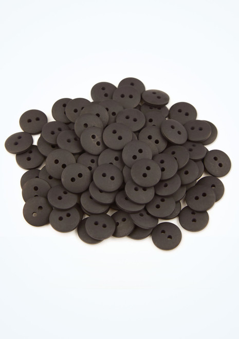 Coloured Buttons 100 Pieces Black front. [Black]