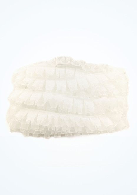 Organza Frilled Lace 25mm x 10m White main image. [White]