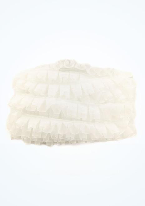 Organza Frilled Lace 25mm x 10m White main image. [White]