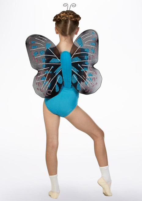 Butterfly Wings Set Blue back. [Blue]