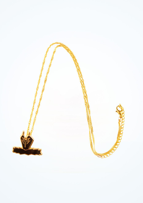 Ballet Bag Swan Tutu Necklace Black front. [Black]