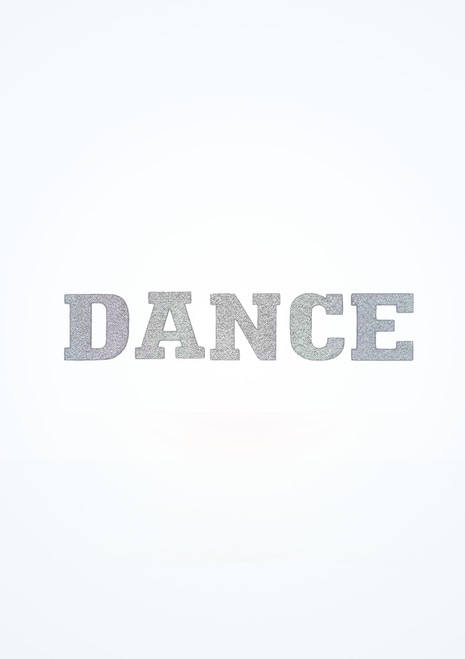 Intermezzo Iron On Dance Sticker Silver front. [Silver]