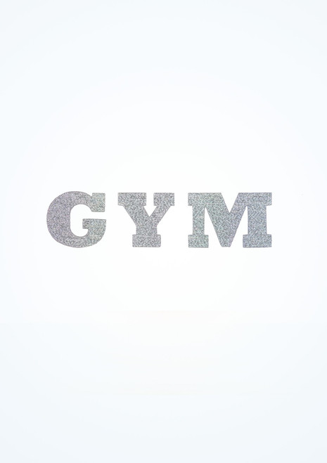 Intermezzo Iron-on Gym Sticker Silver front. [Silver]