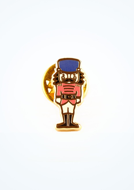 Ballet Bag Nutcracker Doll Enamel Pin Pink front. [Pink]