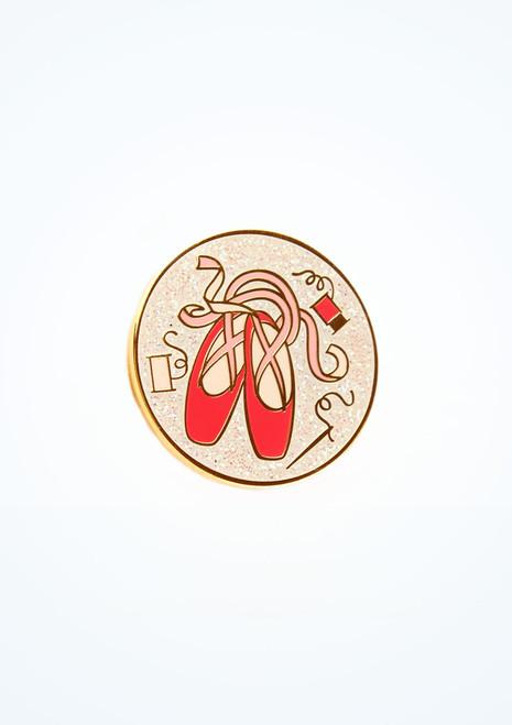 Ballet Bag Pointe Shoe Glitter Pin Pink front. [Pink]