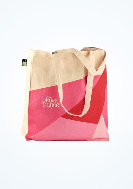 Move Dance Ethical Canvas Bag Pink front. [Pink]