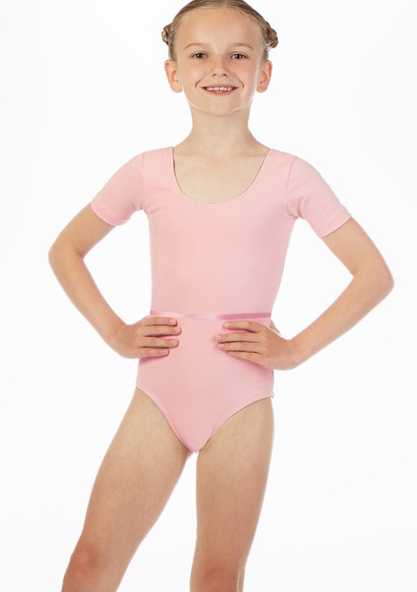 Move Dance Poppy Leotard Pink front. [Pink]