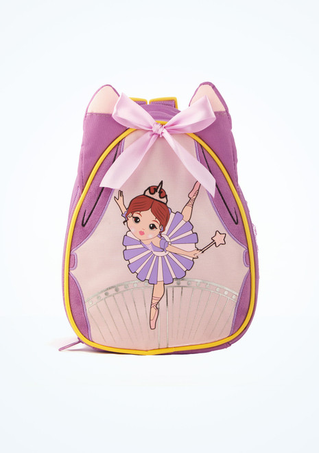 Capezio Sugar Plum Fairy Backpack Purple front. [Purple]