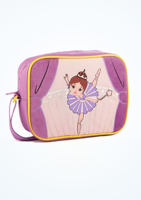 Capezio Sugar Plum Fairy Lunch Bag Purple front. [Purple]