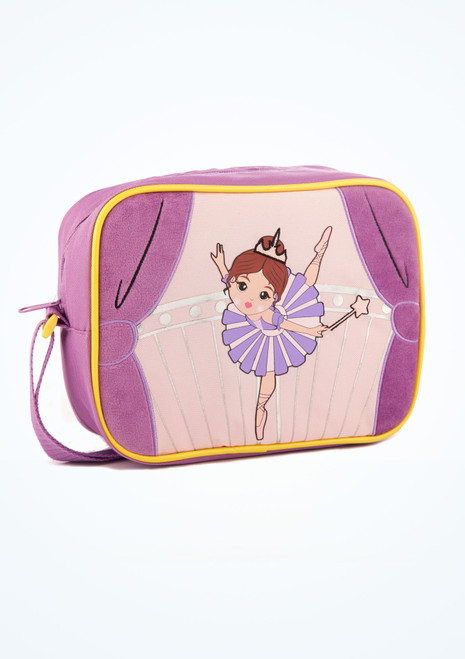 Capezio Sugar Plum Fairy Lunch Bag Purple front. [Purple]