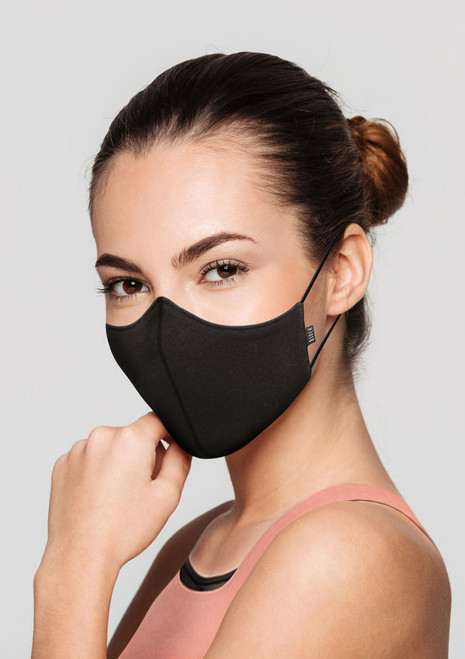 Bloch Adult B-Safe Soft Stretch Face Mask Black. [Black]
