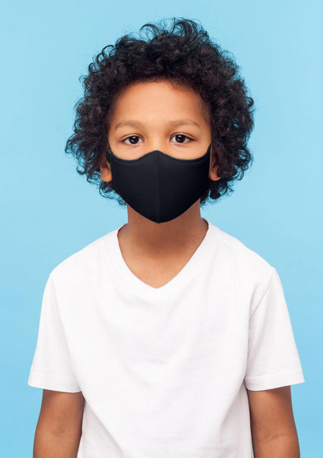 Bloch Child B-Safe Soft Stretch Face Mask Black. [Black]