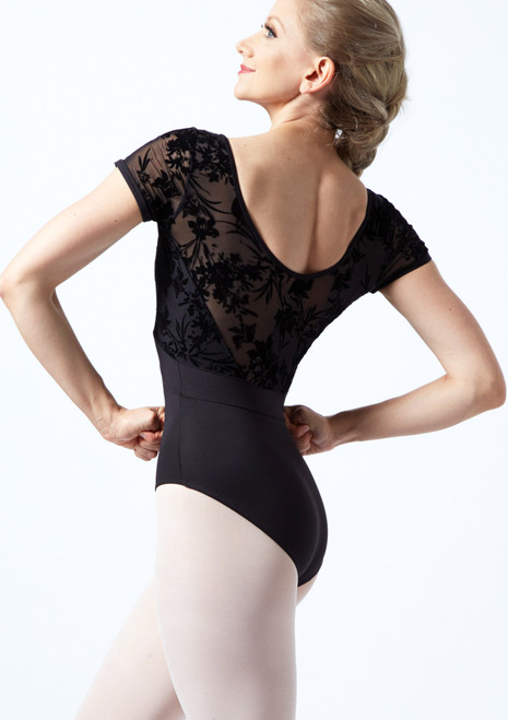 Bloch Scoop Back Floriade Mesh Leotard Black Back-1T [Black]