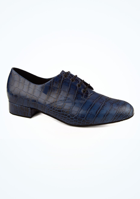 Freed Kelly Croc Effect Mens Ballroom Shoe Blue main image. [Blue]