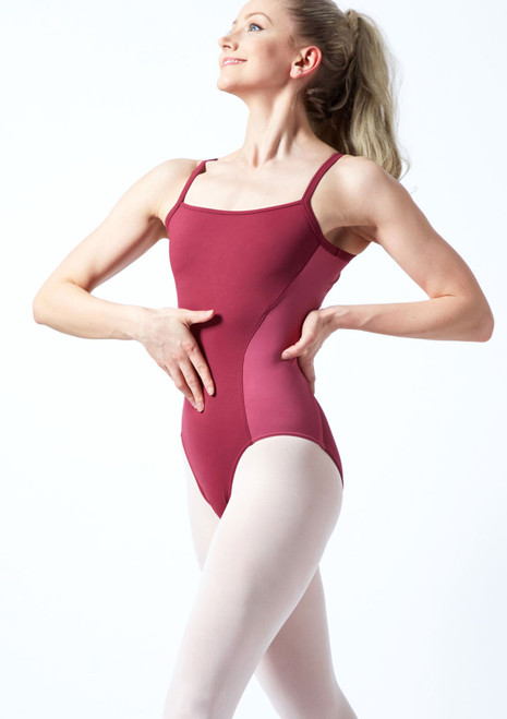 Bloch Naila Open Back Camisole Leotard Pink front. [Pink]