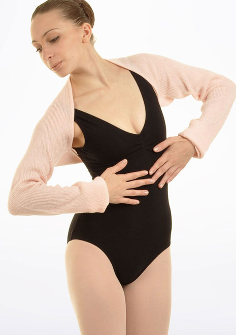 Bloch Lydia Knit Shoulder Shrug Black. [Black]