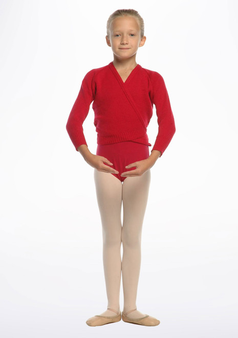 Tappers & Pointers Knit Ballet Wrap Childrens Red. [Red]