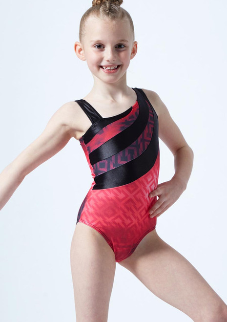 So Danca Girls Chagall Gymnastics Leotard Pink front.