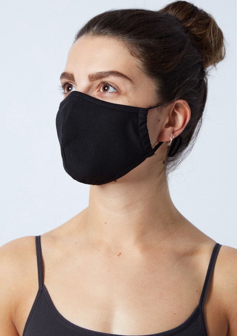 Move Dance Black Face Mask Set - 2 Pack Black Front-1T [Black]