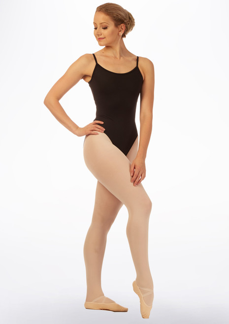 Bloch Octavia Weave Back Leotard Black front. [Black]