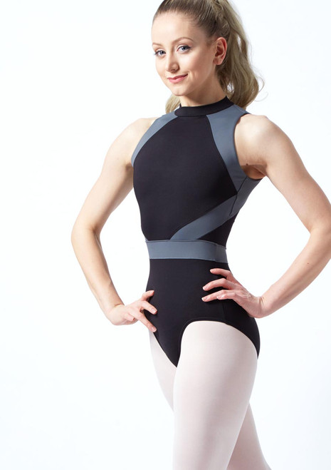 Bloch Alia Open Back Leotard Black front. [Black]