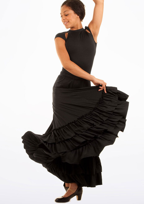 Capezio Flamenco Skirt Black. [Black]