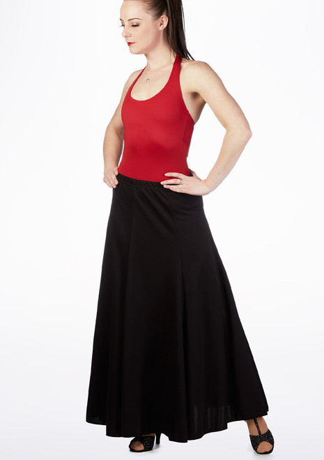 Intermezzo Flare Panel Skirt Black front. [Black]