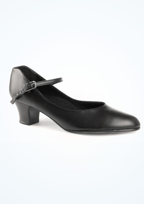 Capezio Junior Footlight Character Shoe 1.5  Black. [Black]""