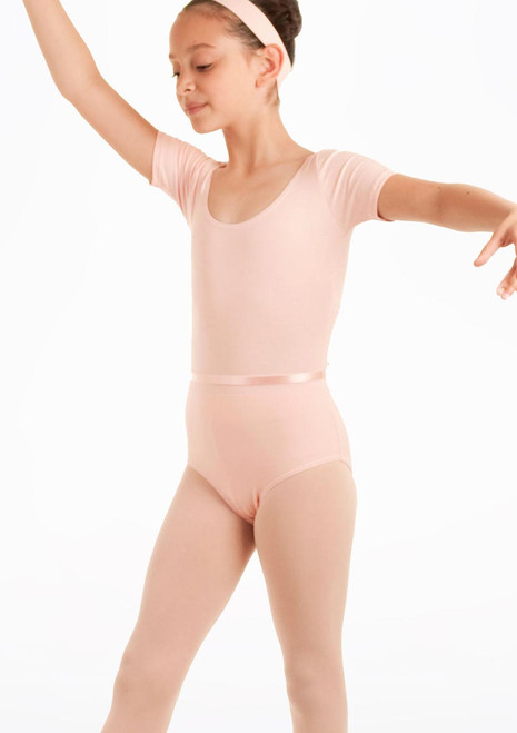 Capezio Class Kids Short Sleeve Leotard Pink. [Pink]