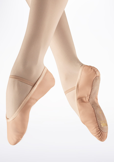 Freed Full Sole Leather Ballet Shoe Pink. [Pink]