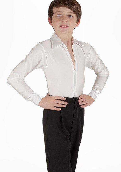 Move Boys Pablo Plain Dancesport Shirt White. [White]